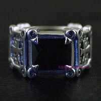 * Таиланд Импорт, восстановление древних способов сделать старый черный квадратный Человек Тайский серебряное кольцо 925 серебро