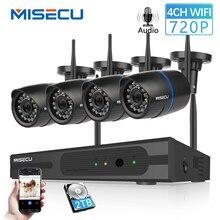 MISECU 4CH 720 P 1MP IP камера Аудио запись беспроводной безопасности CCTV системы дома NVR Wi Fi товары теле и видеонаблюдения наборы комплект plug & play