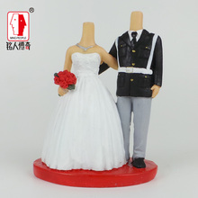Wedding gift wedding cake topper coulpe personalized custom real doll custom clay dolls fixed resin body SR118