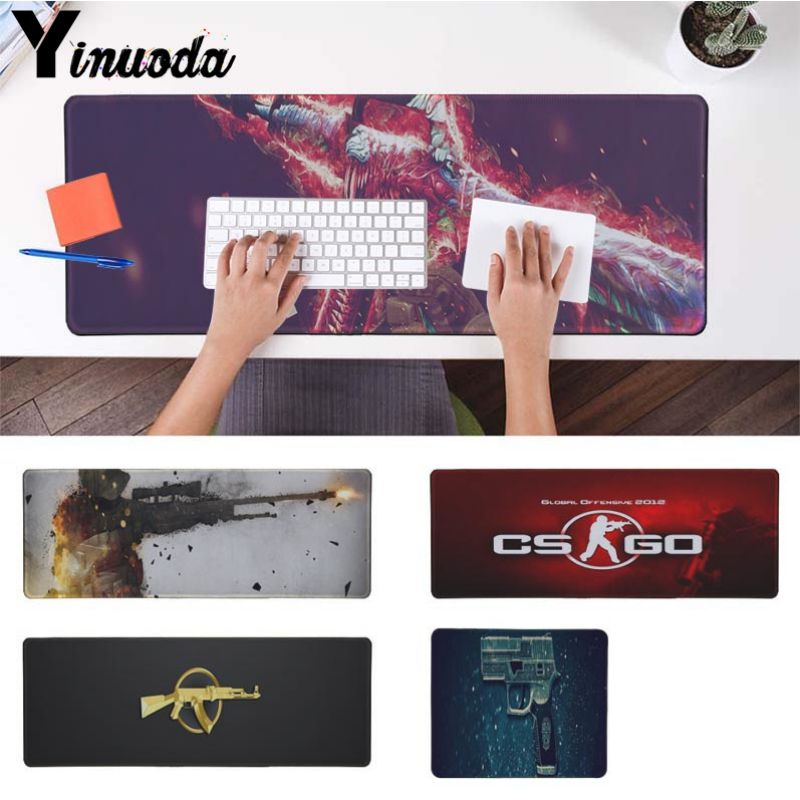 Yinuoda Counter Strike CS Go Office Mice Gamer Soft Mouse Pad Size for 30x90cm and 40x90cm Gaming Mousepads