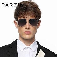 PARZIN Brand Classic Pilot Polarized gafas de sol para los hombres aleación  Rana gafas conductor espejo colorido verano Accesori. 0c538763ecd5