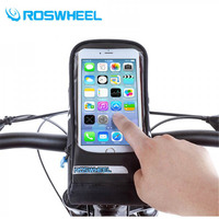 New ROSWHEEL Bicycle Bags Panniers MTB Road Bike Bag Touch Screen Cycling Front Tube Frame Handlebar Bag For Below 5.7 Phone