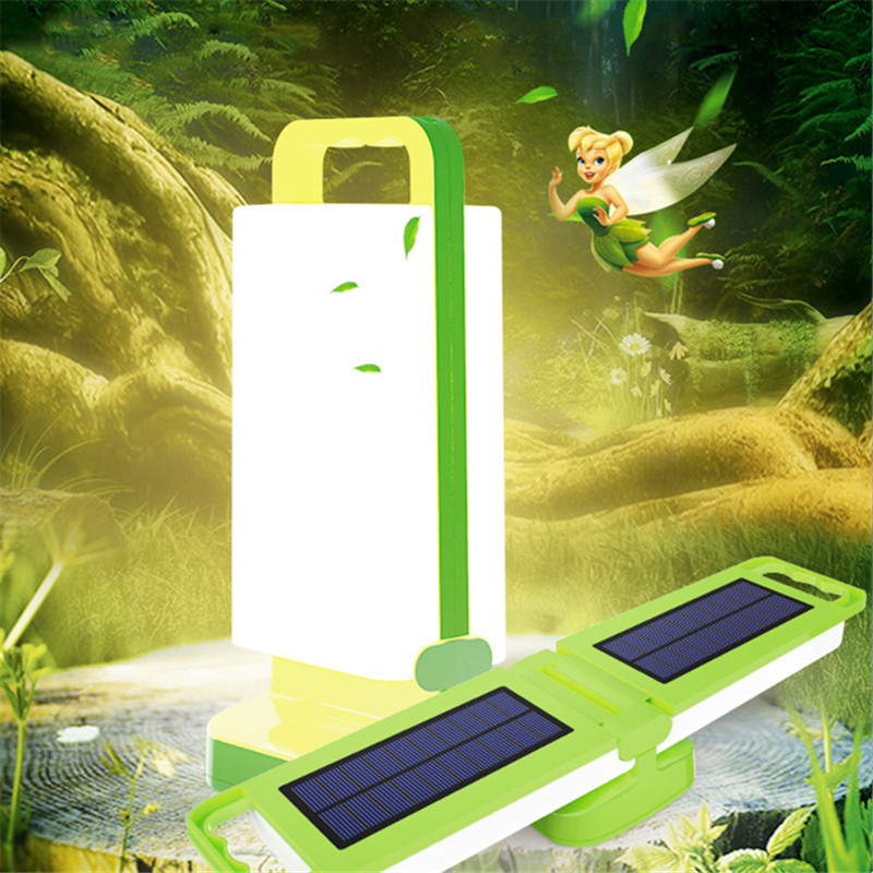 Rotatable LED Solar Panel Table Desk Lamp Energy Saving Outdoor Indoor Home Light Rechargeable Camping Tent Emergency Garland