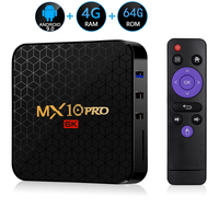 MX10 PRO Smart TV BOX Android 9.0 Allwinner H6 4G 64G TV receiver 6K Wifi Media player Play Store Free Apps Fast Set top Box