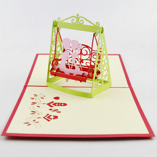 3D Valentines Anniversary Love 3D Pop Up Card I Love You 3D Pop Up Card Couple kissing