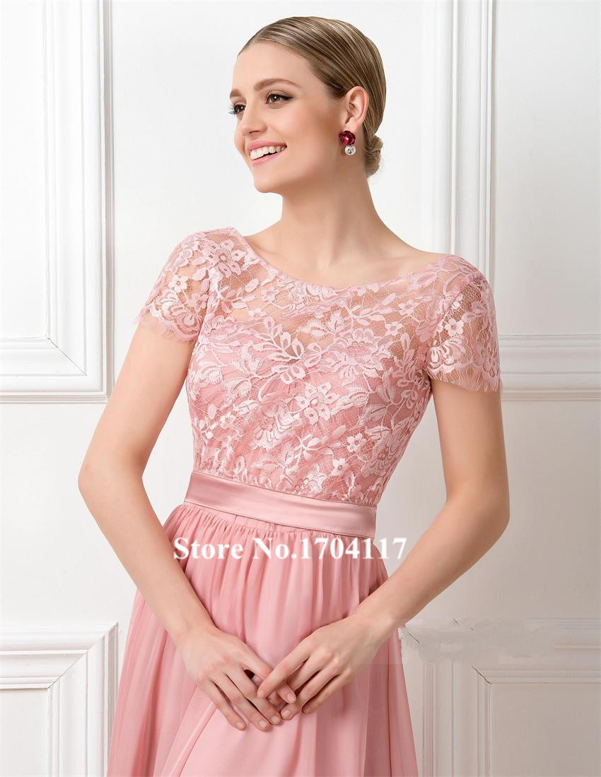 Excelente Melocotón De Color Rosa Vestidos De Dama De Honor ...