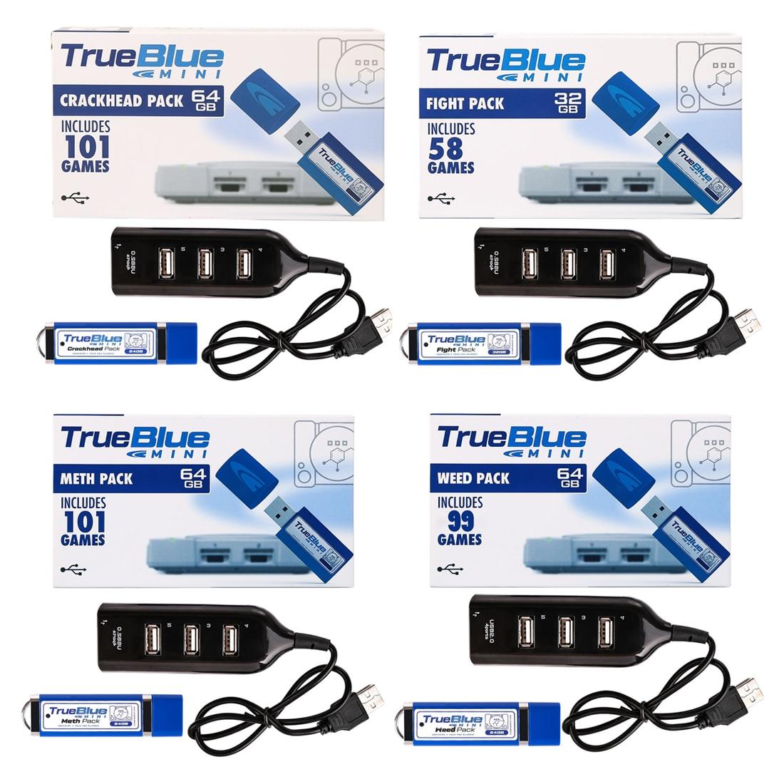 HOBBYINRC 4pcs Kit True Blue Mini Crackhead Pack Weed Pack Meth Pack Fight Pack for PlayStation