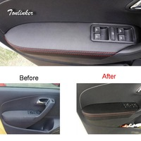 Tonlinker Cover Case Stickers For VW Volkswagen Polo 2011 17 DIY Car Styling PU Leather Skin