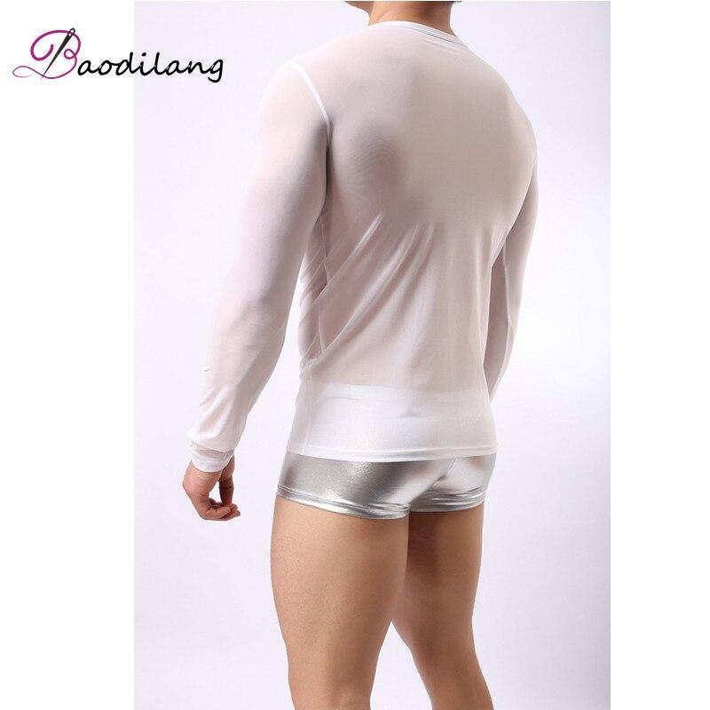 Baodilan Σέξυ ανδρικό διαφανές πλέγμα - Ανδρικός ρουχισμός - Φωτογραφία 6
