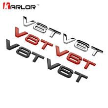Nowy V6T V8T 3D metalowe Fender część boczna odznaka naklejka z logo Ho samochodów Auto samochodów dla Audi A4 A3 A5 A6 A1 Q3 Q5 Q7 samochód stylizacji