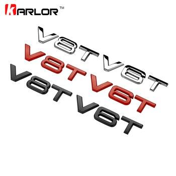Nuevo V6T V8T 3D guardabarros de Metal lateral para carrocería emblema pegatina Ho coche automóviles para Audi A4 A3 A5 A6 A1 Q3 Q5 Q7 estilo de coche