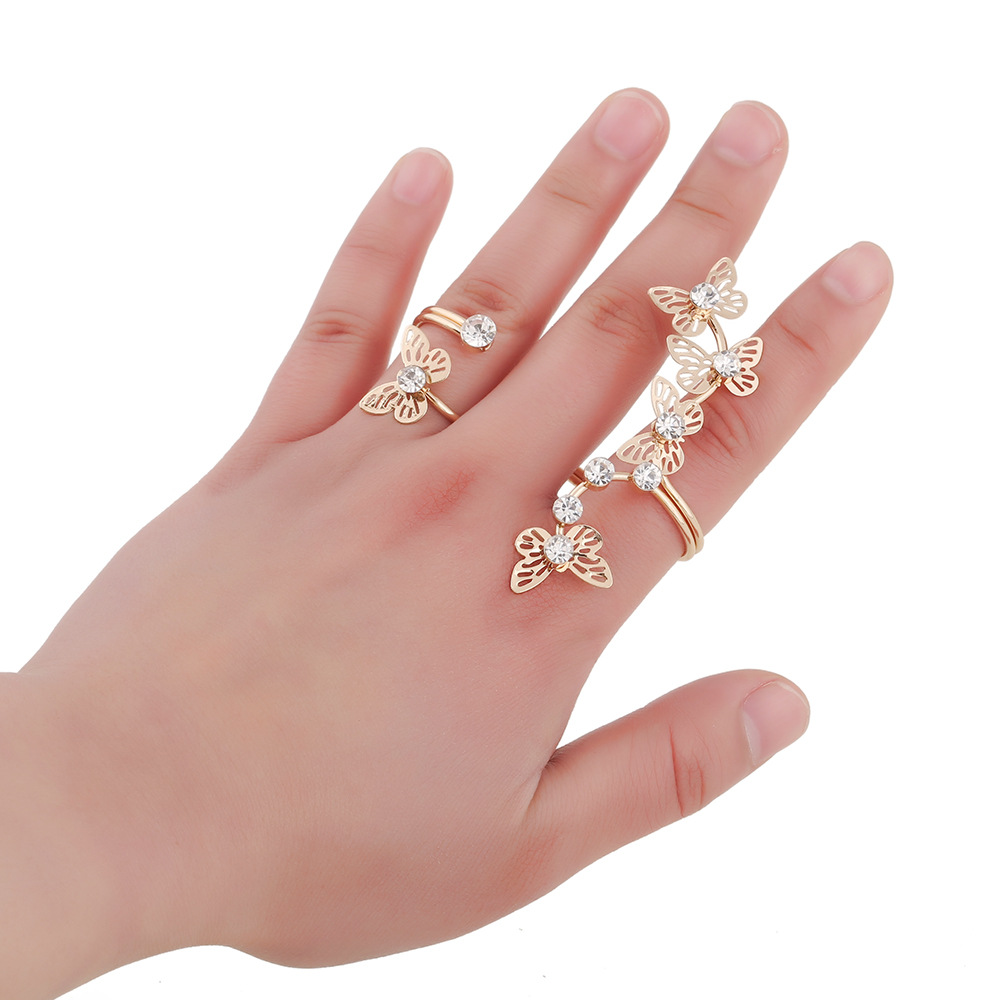 Fashion Elegant Gold color Butterfly Ring Women\'s Ring trendy ...