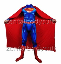 New 52 Superman Cosplay costume Superhero Bodysuit 3D Printting Skin Spandex Zentai Halloween Party suit free delivery free shipping 3d printting female x men dark phoenix superhero costume new jean grey cosplay costume tight catsuit bodysuit