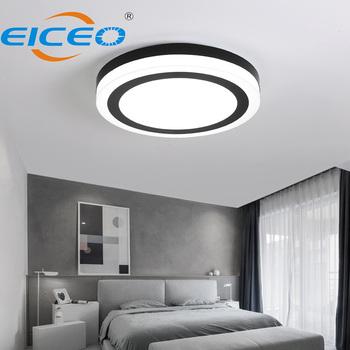 Black and White LED Ceiling Lamp Circle Modern Simple Bedroom Study Fashion Creative Nordic Lighting Lamp Surface Mounted Light