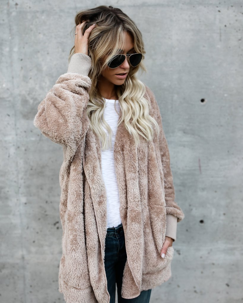 2018 New Fur Cardigans Women Long Sleeve Oversize Winter Casual Loose Coverup Tops Autumn Coat Female Sweaters Plus Size 3XL