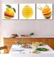 2017 Nieuwe Hot Koop Unframed 3 Panel Moderne Vruchten Voor citroen Schilderij Foto Op Canvas Kicthen Decor Cuadros Voor Living kamer