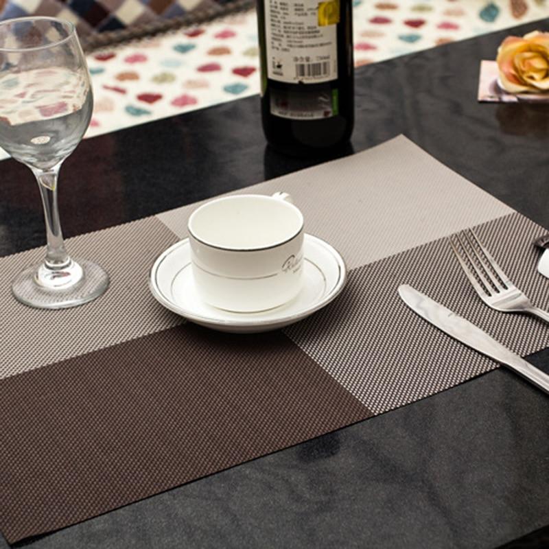 4 quadratische einfarbig esstisch tischset europa stil pvc - Küche, Essen und Bar - Foto 5