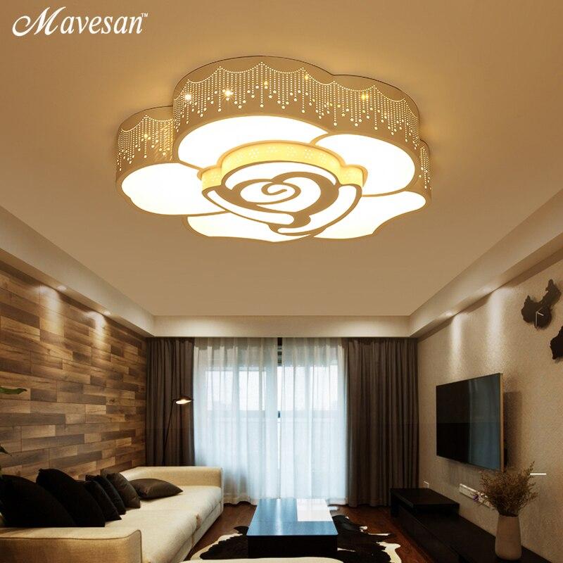 Modern Ceiling lights LED lamp white color 30W remote control For Bedroom Living room Lights Fixtures lamparas de techo abajur