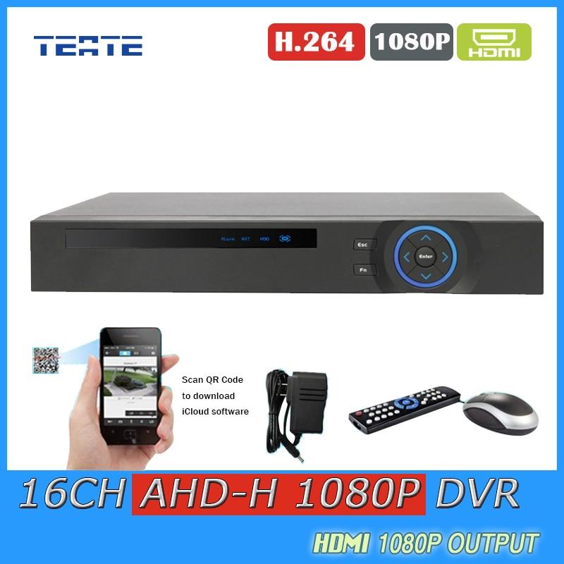 16ch CCTV System DVR Digital Video Recorder 16 Channel AHD 1080P WIFI Hybrid security surveillance DVR