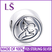 LS Solid 925 Sterling Silver Family Bead Charm For Women Fit Original Bracelets Necklaces DIY Fine