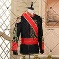 Мода Дворец стиль мужчины Смокинги Классический Groomsmen Мужчины Свадебные Suitguard актуальные фотографии Европейский сценический костюм почетный караул