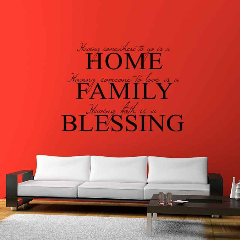 Online Shop Home Family Blessing Bible Inspiration Quote Adhesive - Wall decals quotes bible
