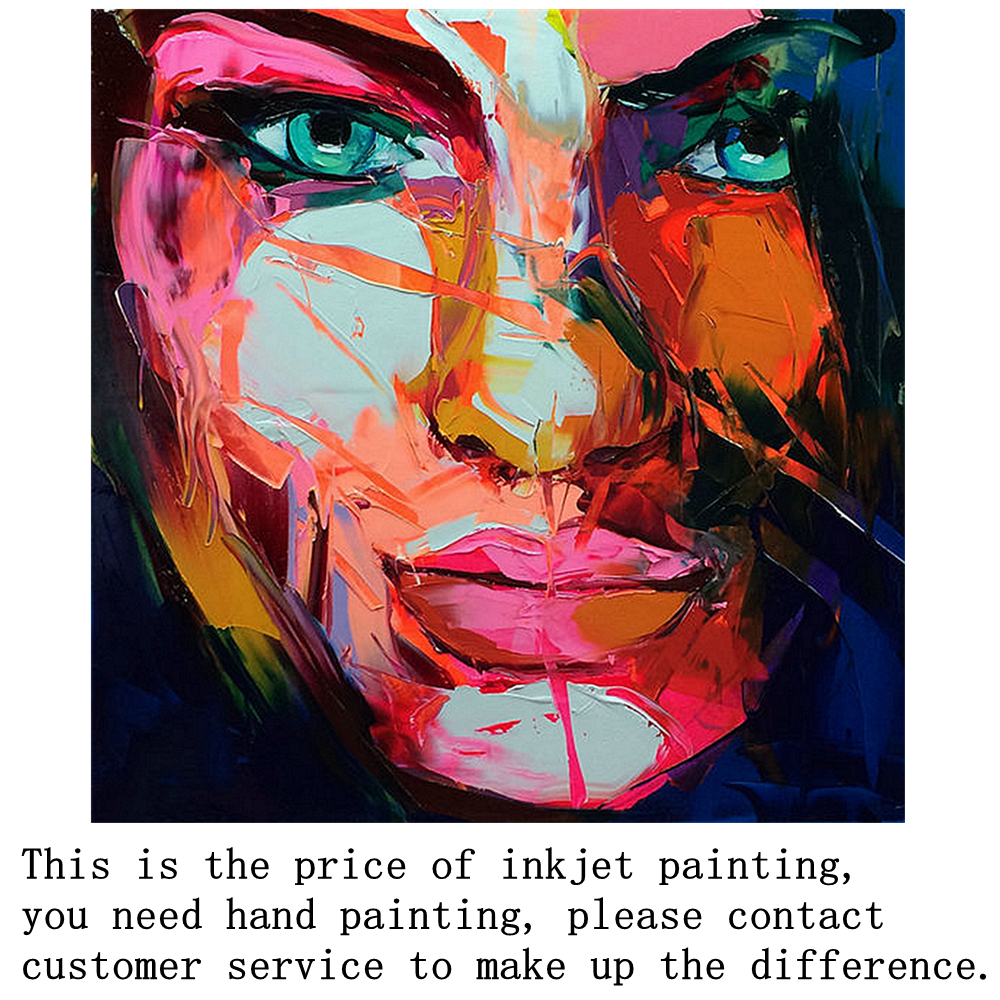 Us 15 0 Wall Art Canvas Prints Knife Painting Abstract Face Paintings For Bathroom Kitchen Wall Decor Home Decorative Colorful Art In Painting