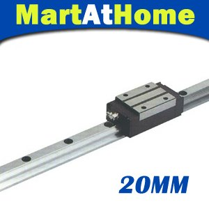 CNC Rectangle Linear Guide 20mm L1000mm and Bearing Block  #SM382 @SD 2pcs sbr16 l1000mm linear guide 4pcs sbr16uu block cnc router