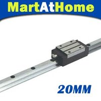 CNC Rectangle Linear Guide 20mm L1000mm and Bearing Block #SM382 @SD