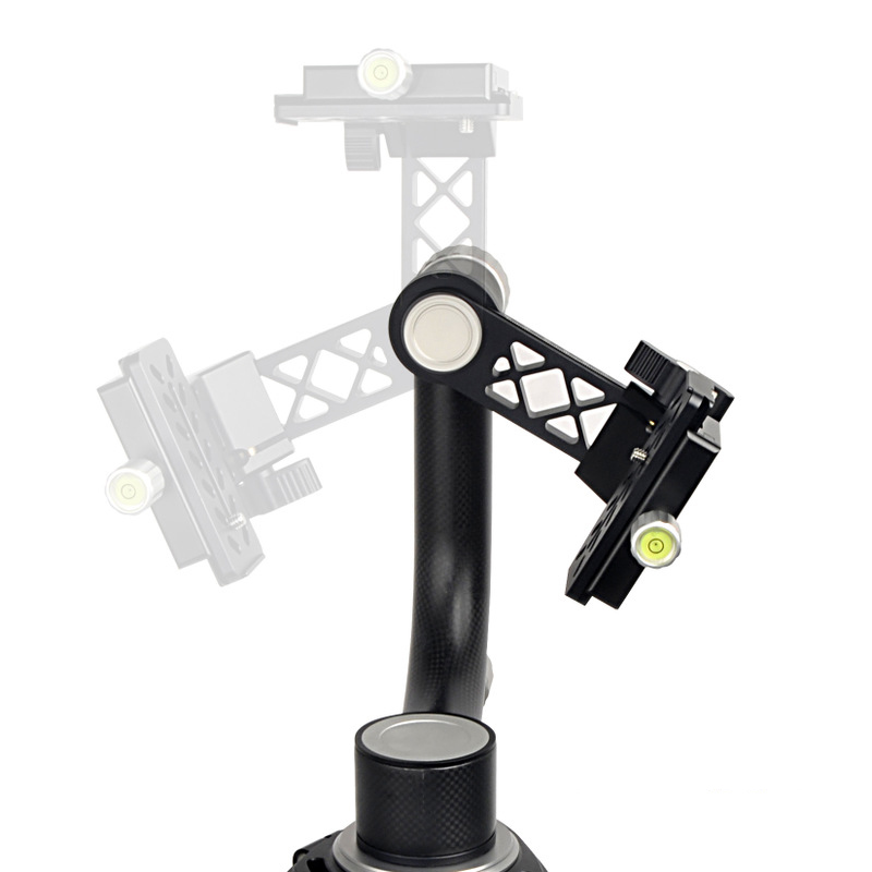 Tripod Head Panoramic 360 Degree Panoramic Gimbal with Arca Swiss Standard 1/4'' Quick Release Plate for DSLR Camera