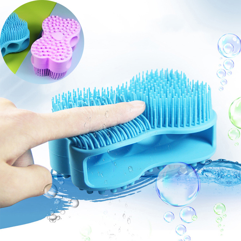 1pcs Soft Silicone Body Brush Massage Scrub Bath Brush For Baby Shower Washing Exfoliating Gloves Foot Scrubber Esponja De Banho