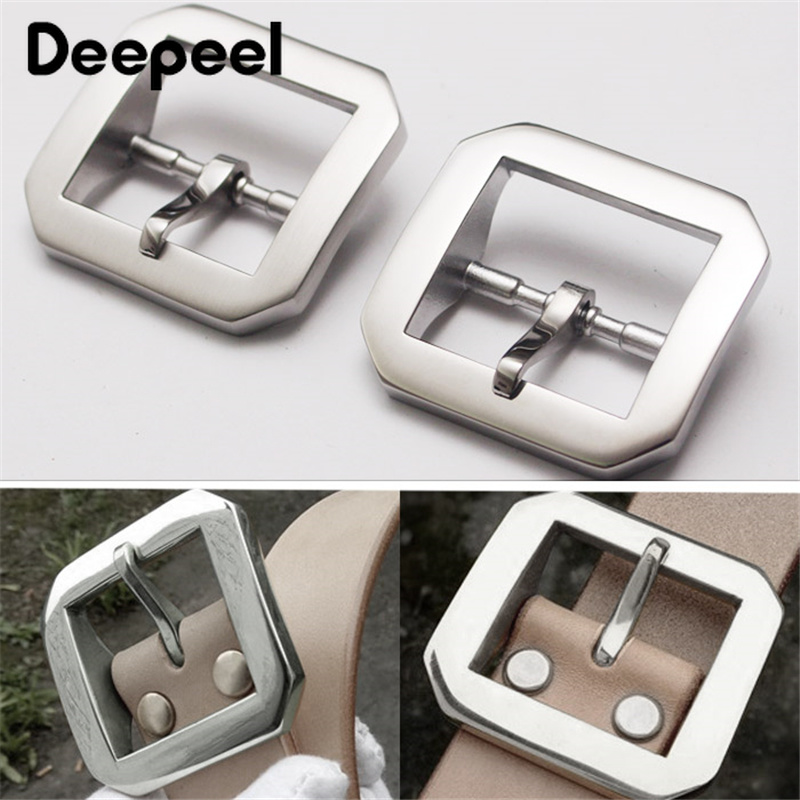Deepeel 40mm Stainless Steel Solid Brass Belt Buckles Pin Cowboy For Men's Jean Accessories DIY Leather Craft Fit 3.7-3.9cm Belt