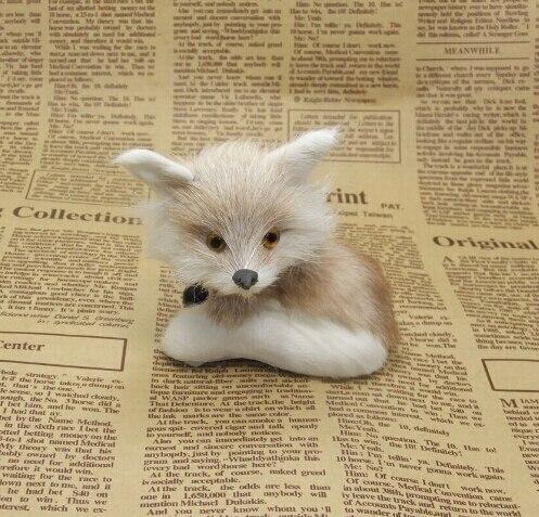 Buy Adorable Vivid Fox Toy Mini Fox Decor