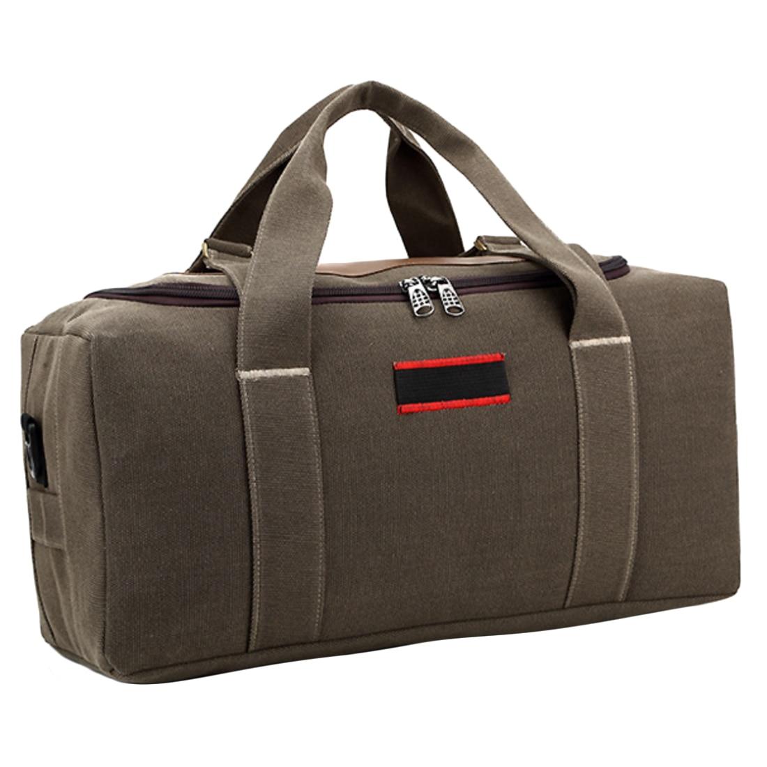 HIPSTEEN Large Capacity Canvas Men's Women Travel Bags Cross-body Bag Handbag Luggage Bag Men Travel Bags - Size S / L Hot Sale 6