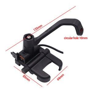 Image 3 - Buzzleeオートバイユニバーサルアルミ合金電話usb充電器ハンドルのための4 6インチ電話用スタンドホルダー