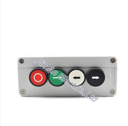 Four self reset button box flat button two hole waterproof switch box control button box cassette arrow silver contacts xb2 цена