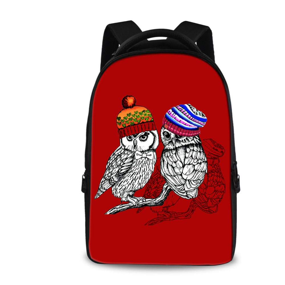 INSTANTARTS Women Red Backpacks for Senior High School College Students Big Size Tavel Laptop Daypacks Fashion