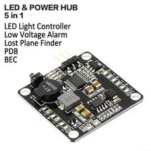 High-quality Systems LED & POWER HUB 5 in 1 Low Voltage Alarm Lost Plane Finder LED Light Controller BEC 5V/12V PDB ZMR kit