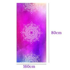 Image 4 - Zipsoft Large Size Microfiber Beach towel Mandala Violet Quick Drying Yoga Mat Sports Swimming Bath Blanket Christmas gift 2019