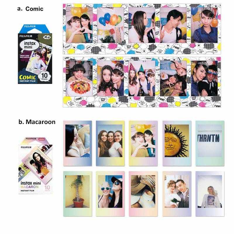 حقيقية فوجي فيلم Instax ميني 8 9 فيلم اللون ورق طباعة الصور 10 قطعة ل فوجي 9 8 7s 50 90 25 70 حصة SP-2 SP-1 Liplay كاميرا فورية