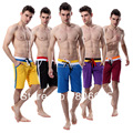 Hot Men's Trainer Medium Long Shorts Trunks For Men Mesh Quick-Dry Double Draw String Fashion 6 colors 7112