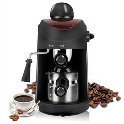 freeshipping AC220-240V 50-60HZ 800W POWER 4 cups Espresso Coffee Machine High Pressure Coffee Maker Steam Type Foam Coffee Mac