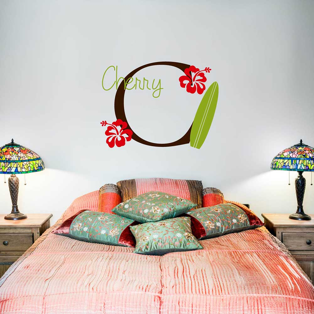 Online Shop Beach Surfboard Wall Stickers Summer Holiday Vinyl Living Room  Wall Decals Custom Initial Lettering Wall Art Home Decors 620C | Aliexpress  ...