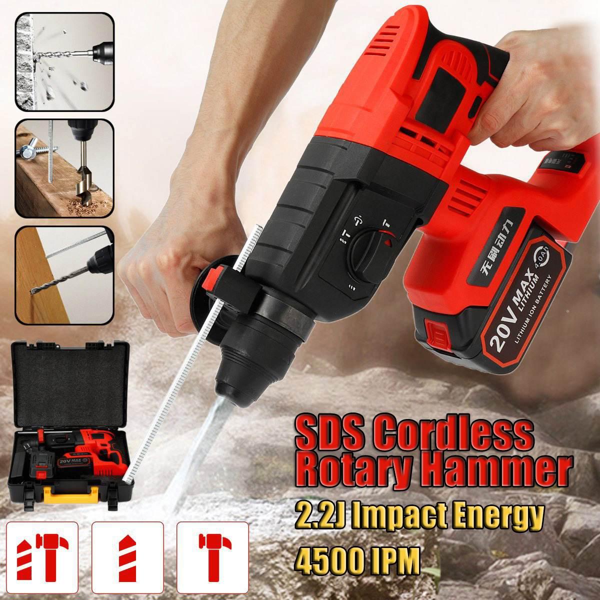 Betrouwbare Oplaadbare Multifunctionele Elektrische Cordless Hamer 4ah 20 V Impact Elektrische Boor Schroevendraaier Sds Power Tool 1/2 Li- Batterij