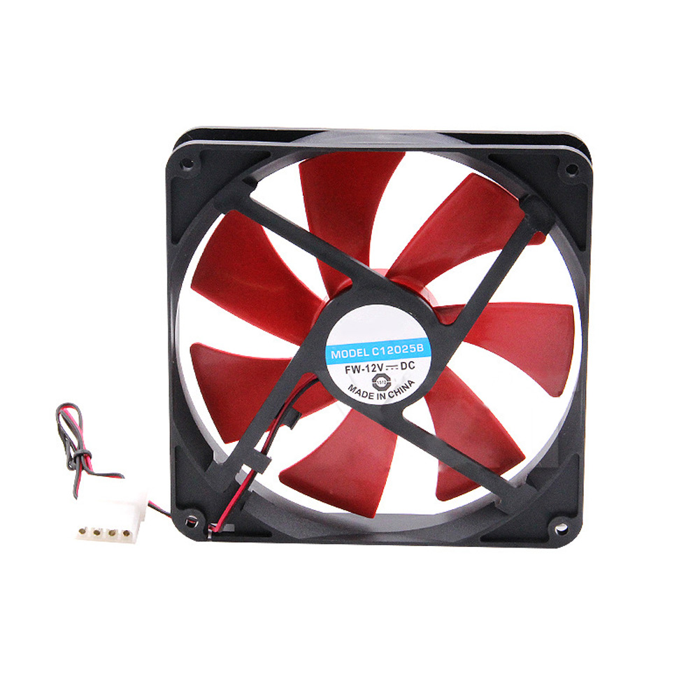 Silent Quiet PC Case Cooling <font><b>Fans</b></font> <font><b>140mm</b></font> DC <font><b>12V</b></font> 4D Plug Computer Cooler image