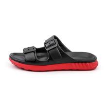 Polali – pantoufles pour hommes et femmes, Message diable, chaussures, tongs pour les yeux, sandales de dessin animé, deux semelles différentes, été