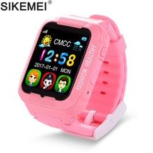 Купить с кэшбэком SIKEMEI Kids Smart Watch Baby Safe Watch with GPS Location Finder Tracker Camera Anti-lost SOS Call Waterproof for Android iOS