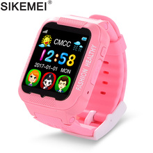 SIKEMEI Kids Smart Watch Baby Safe Watch with GPS Location Finder Tracker Camera Anti-lost SOS Call Waterproof for Android iOS