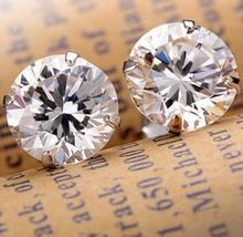 Fashion Noble Jewelry Crystal Rhinestone Silver Plated Stud font b Earrings b font Piercing Ear Studs