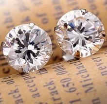 Fashion Noble Jewelry Crystal Rhinestone Silvery Stud Earrings Piercing Ear Studs For Weddings Party